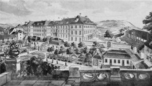 Szpital Inselspital, Berno, Szwajcaria; koło 1724 / autor nieznany / domena publiczna